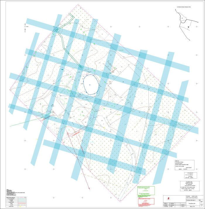 Āderu plāns zemes īpašumam Mežsargi