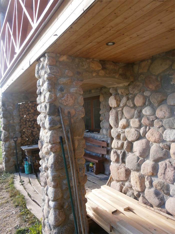 Guļbūves mājas ar pirti projekts, realizētā ēka