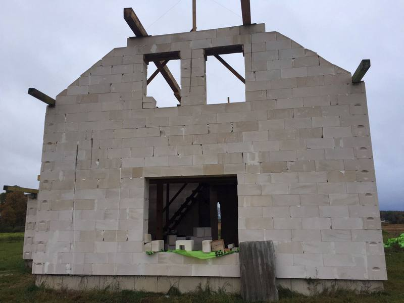 """mājas projekts """"Rita"""", būvniecības bildes"""