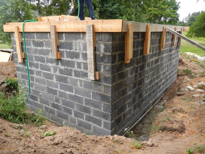 Pagraba projekts, būvniecības procesa bildes