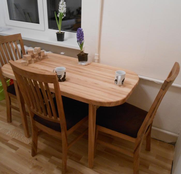 Paštaisīts oša koka galds - 2. versija LUX