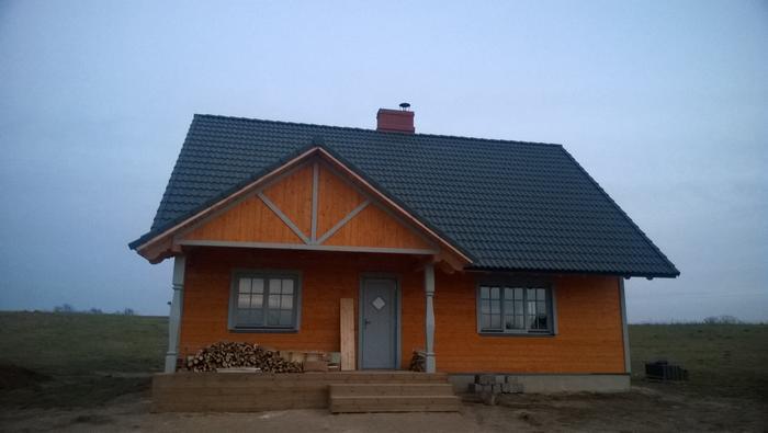 """Mājas projekts """"Aldis LUX"""", uzbūvētās mājas bildes"""