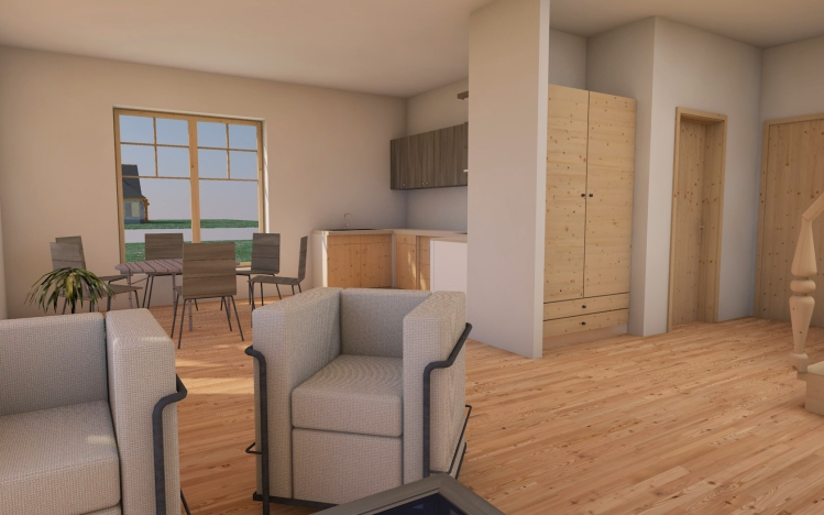"""Dzīvojamās mājas - dīvņu mājas projekts """"Diāna"""" - vizualizācijas"""