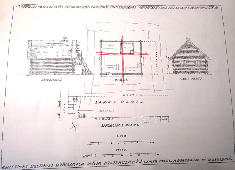 Āderu pētijums senai mājai Degteru sādžā