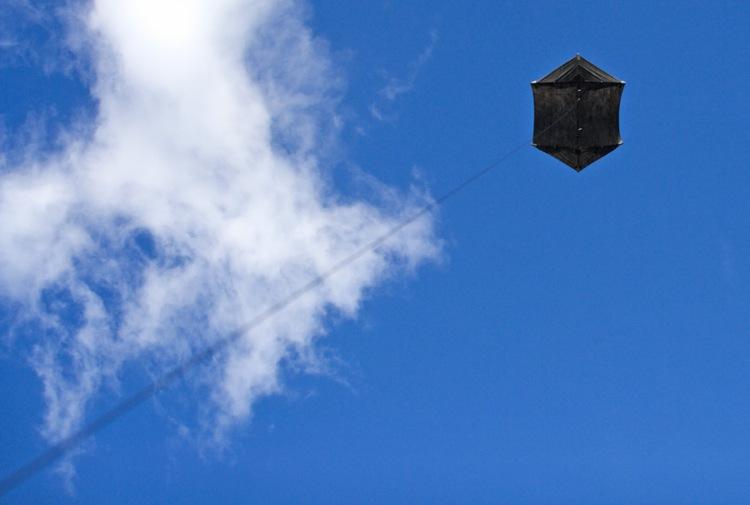 Aerofoto ar paštaisītu pūķi