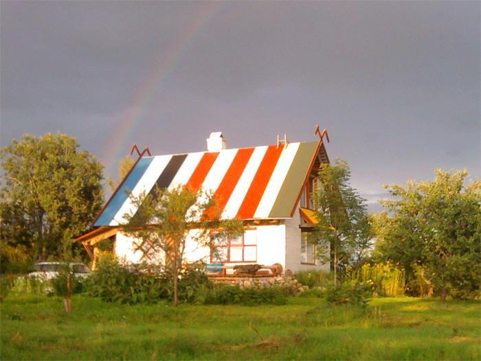 ekonomiskas mājas projekts, Rekordmāja, mājas attēls ar varavīksni