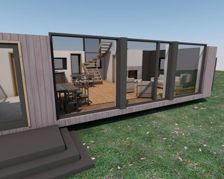 """Mājas projekts """"Agita"""" - vizualizācijas"""