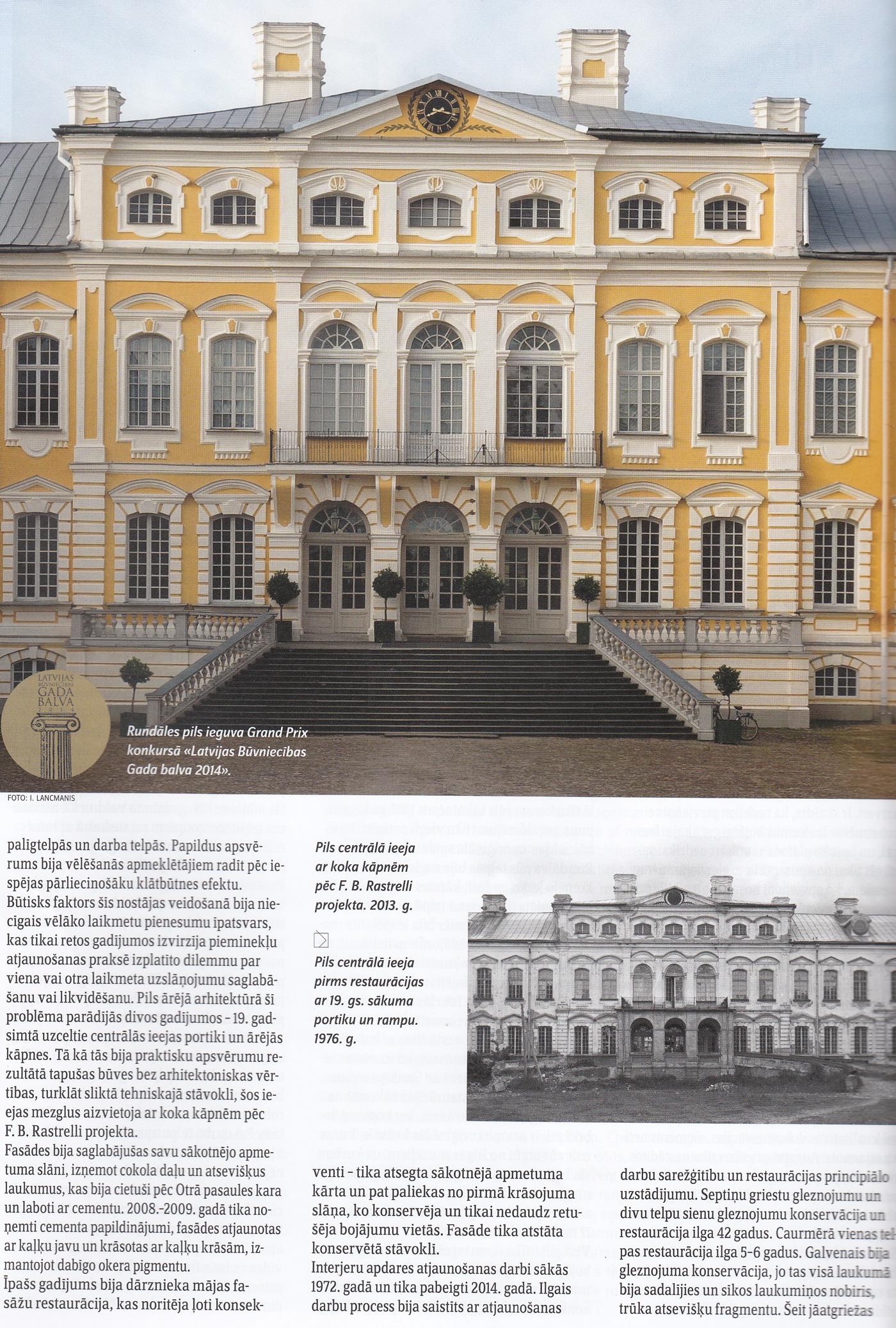 """Lappuse no raksta """"Latvijas architektūra"""""""