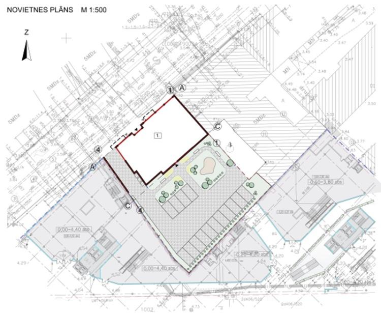 Dauddzīvokļu mājas projekts Rīgā - ģenplāns
