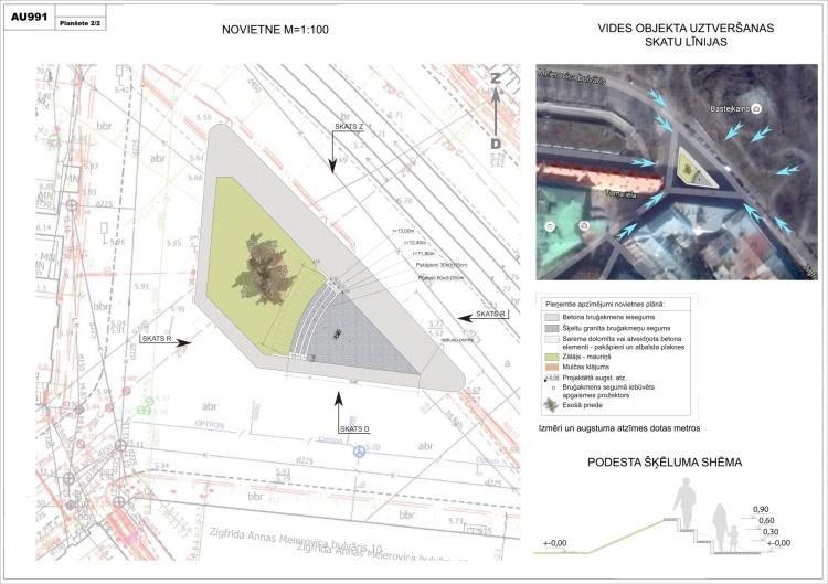 Piedalījāmies barikāžu piemiņas laukuma arhitektūras konkursā, planšetes