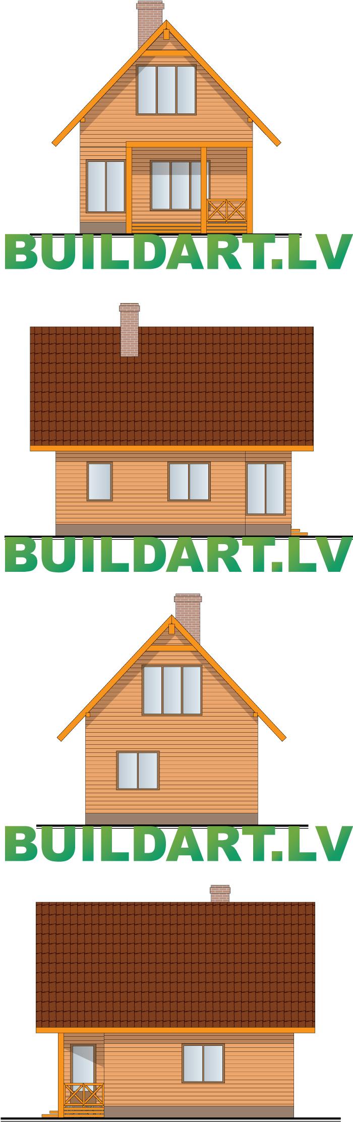 """Saimniecības ēkas projekts - """"dzīvojamā saimniecības ēka"""" """"Puds"""""""
