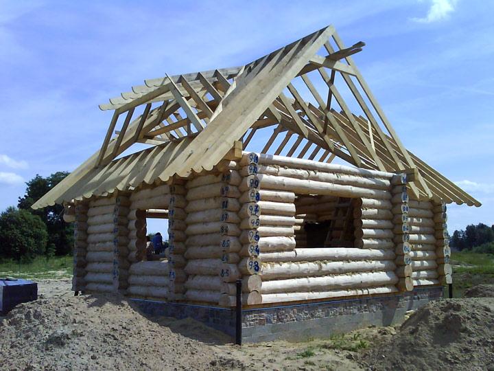 Guļbaļķu pirts projekts, būvniecības process