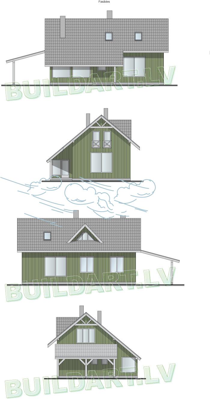 """Dzīvojamās mājas projekts """"Lielais Ansis"""" - fasādes"""