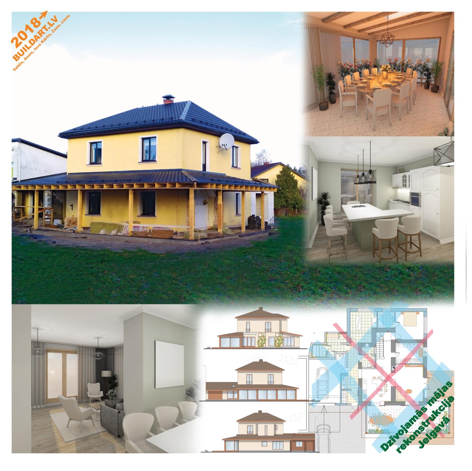 Dzīvojamās mājas rekonstrukcijas projekts
