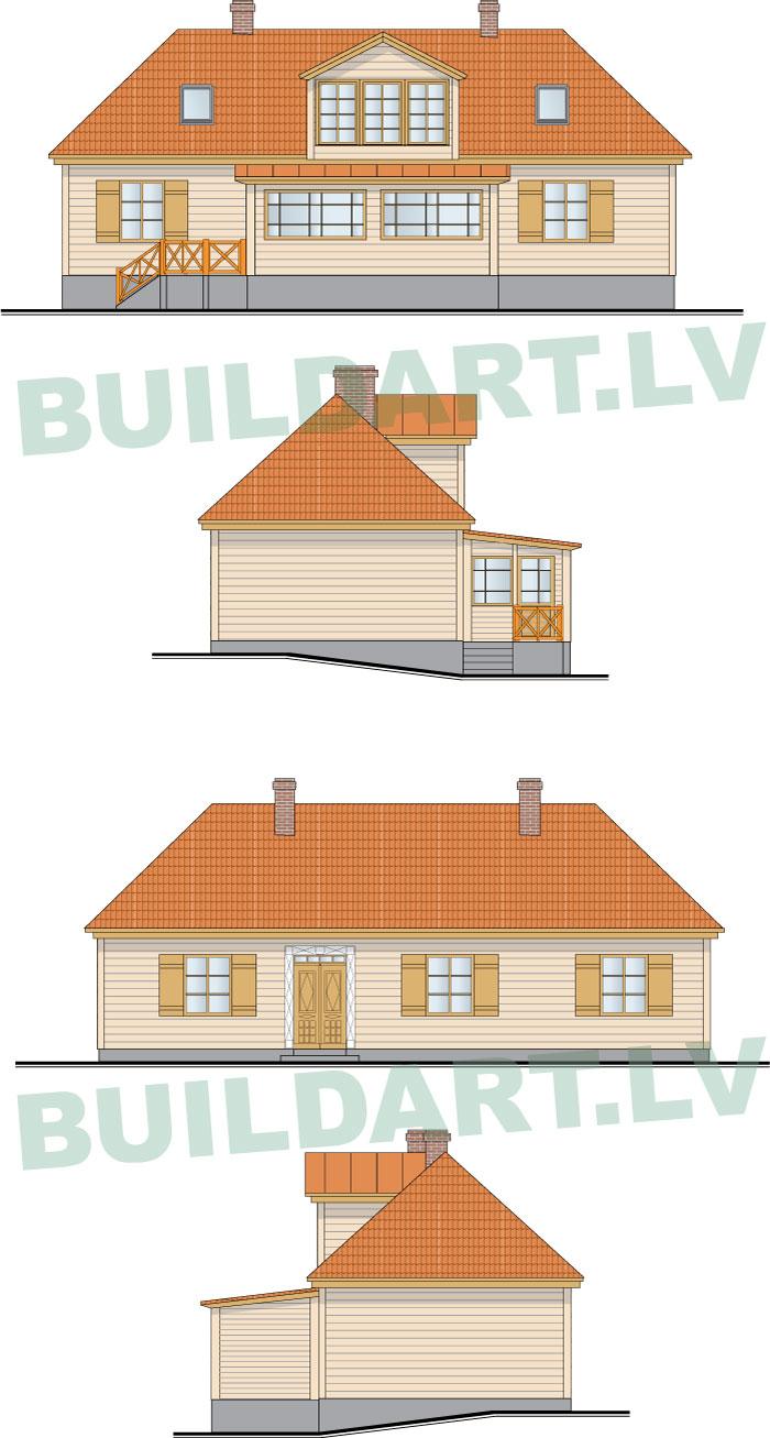 Rekonstrukcijas projekts, ēkas fasāžu rasējumi