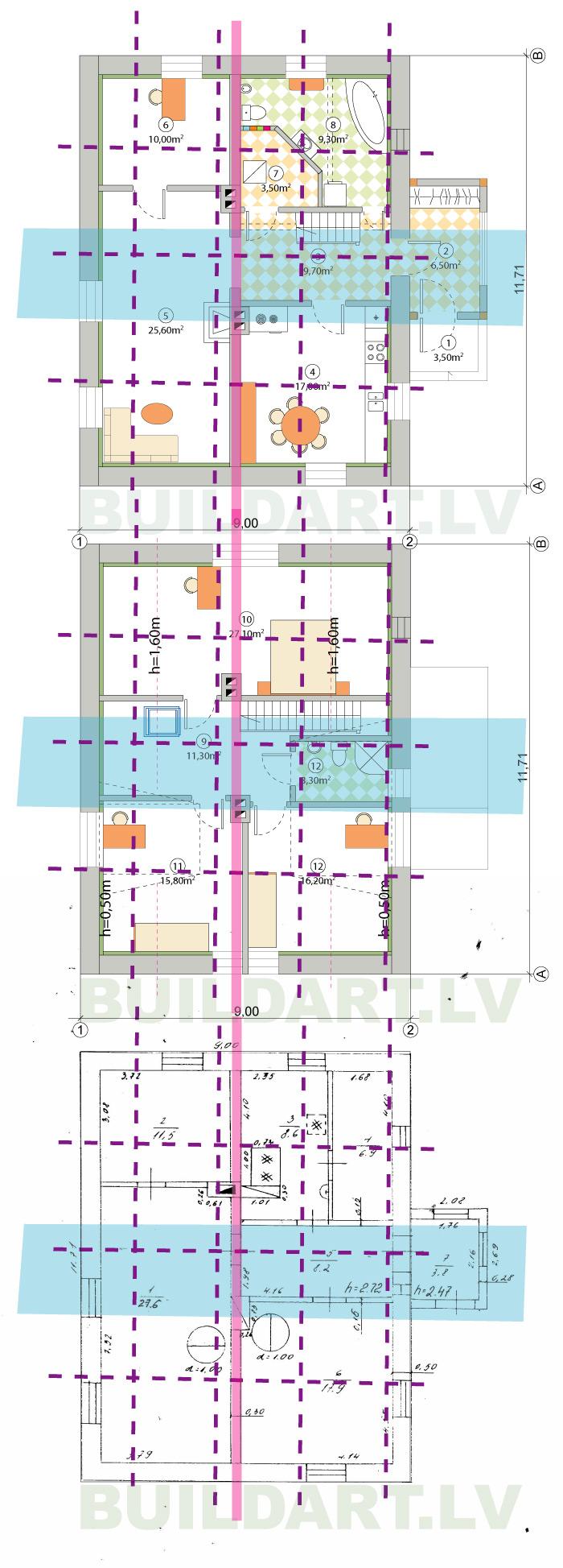 Mājas rekonstrukcijas projekts, āderu plāni
