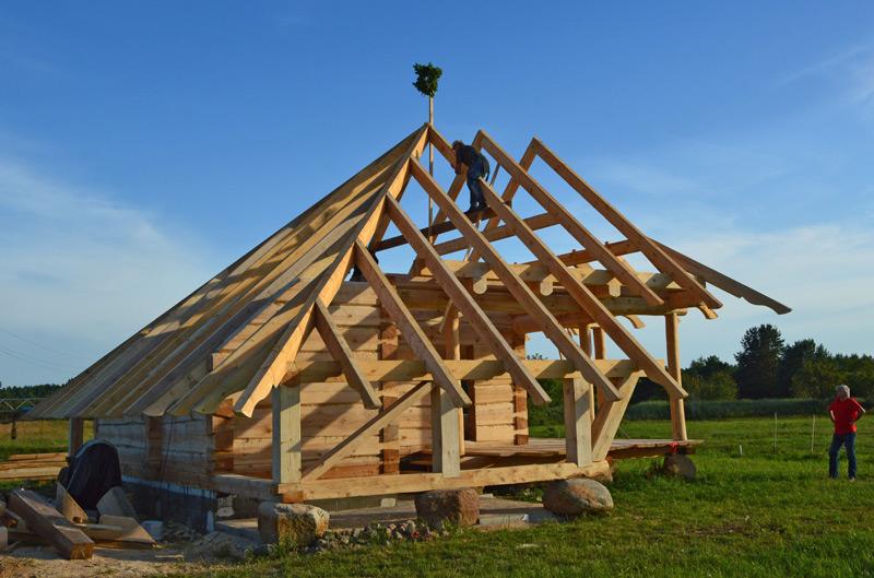 Atpūtas mājas projekts, būvniecības procesa bildes