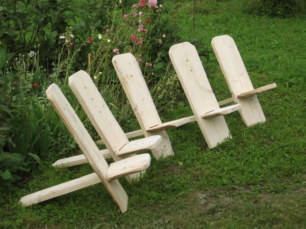 Vienkāršs ātri izgatavojams dārza krēsls
