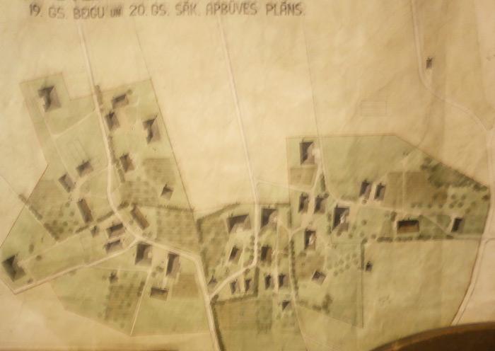 Teritorijas shēma 19.gs beigu, 20.gs sākuma apbūvei Vēveros