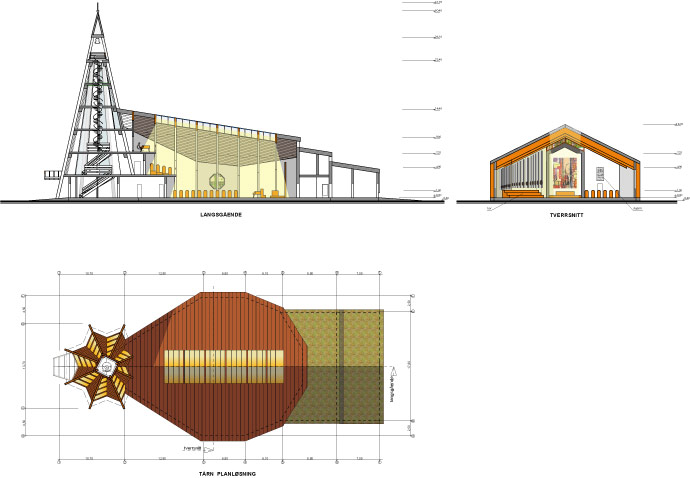 Dalība konkursā jaunā Valer baznīca, baznīcas skiču projekts, plāni, fasādes, vizualizācijas