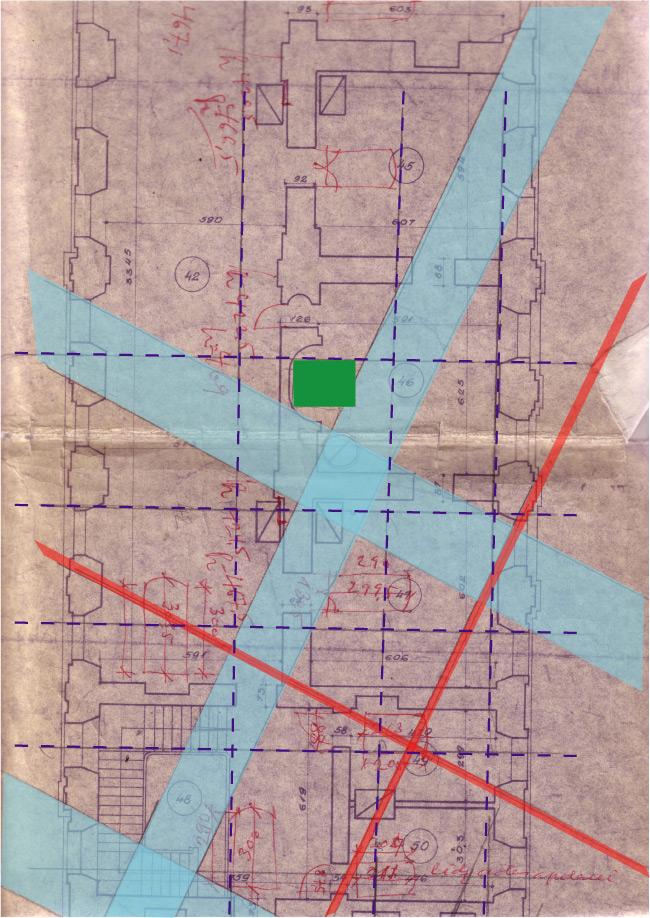 Āderu plāns hercogienes buduārā Rundāles pilī