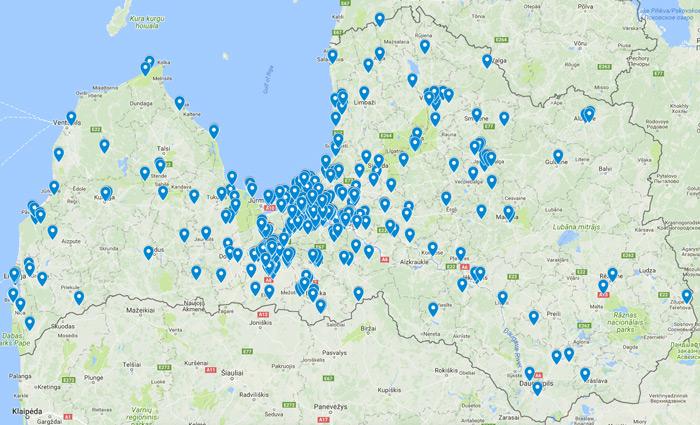 Mūsu paveiktais darbs - vairāk kā 500 māju projekti Latvijā