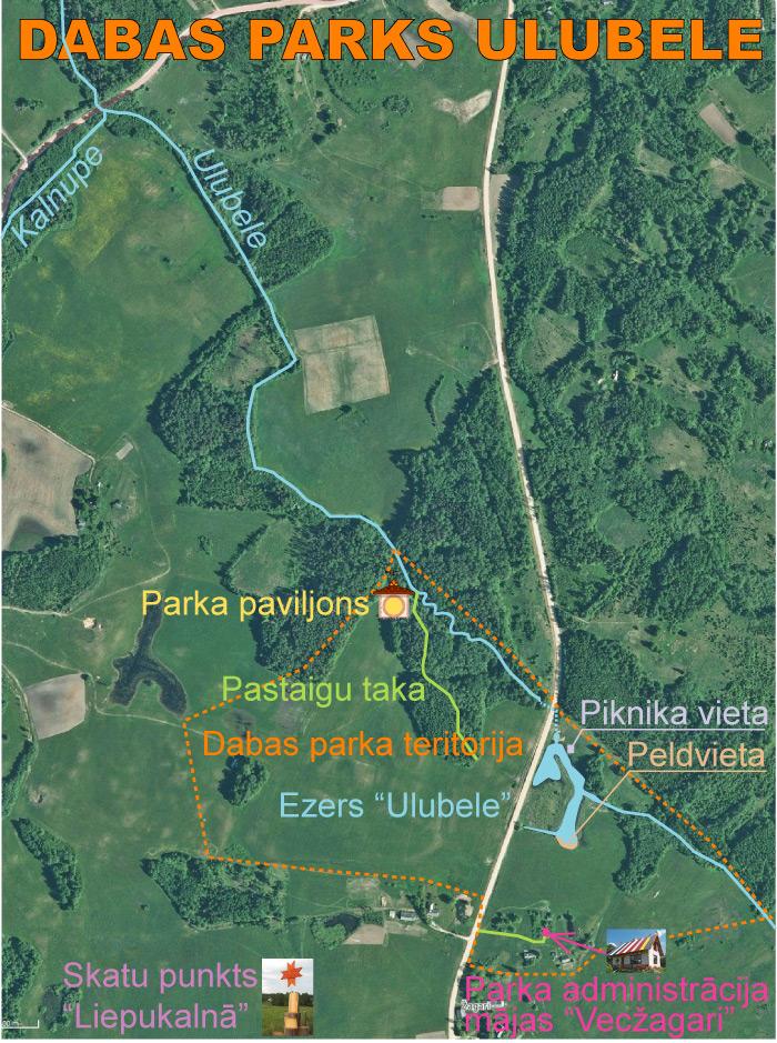 Dabas parka Ulubele karte