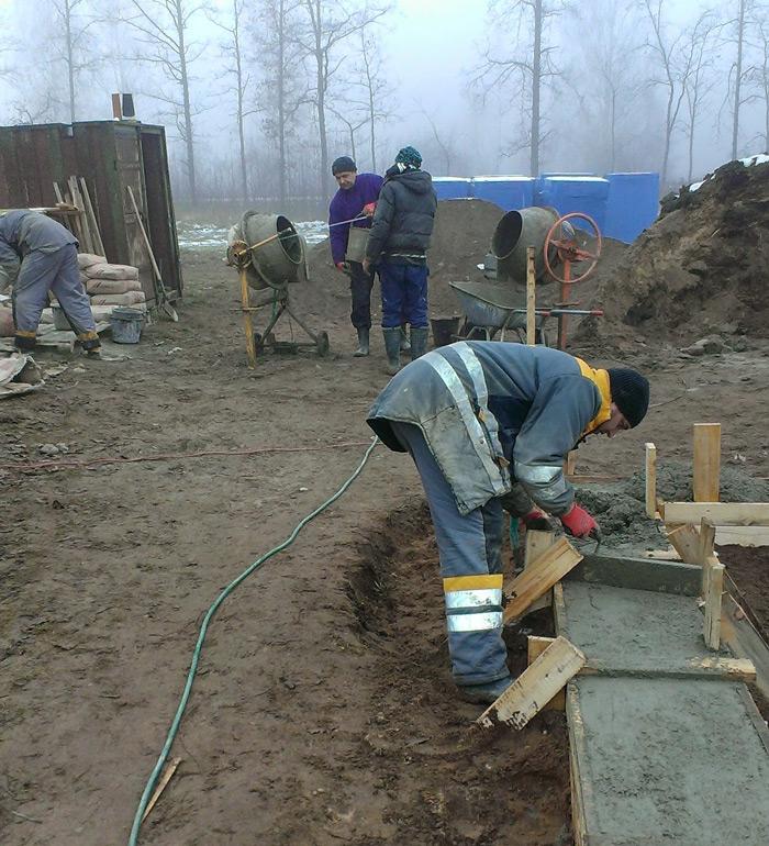 """Mājas projekts """"Ansis"""" - būvniecības procesa bildesildes"""