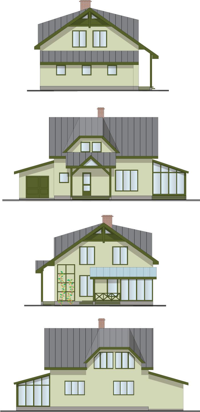 """Projekts """"Villa Agnese"""", dzīvojamās mājas projekts, fasādes"""