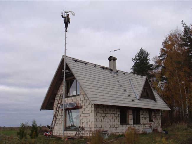Kāpšaa vējaģeneratora mastā
