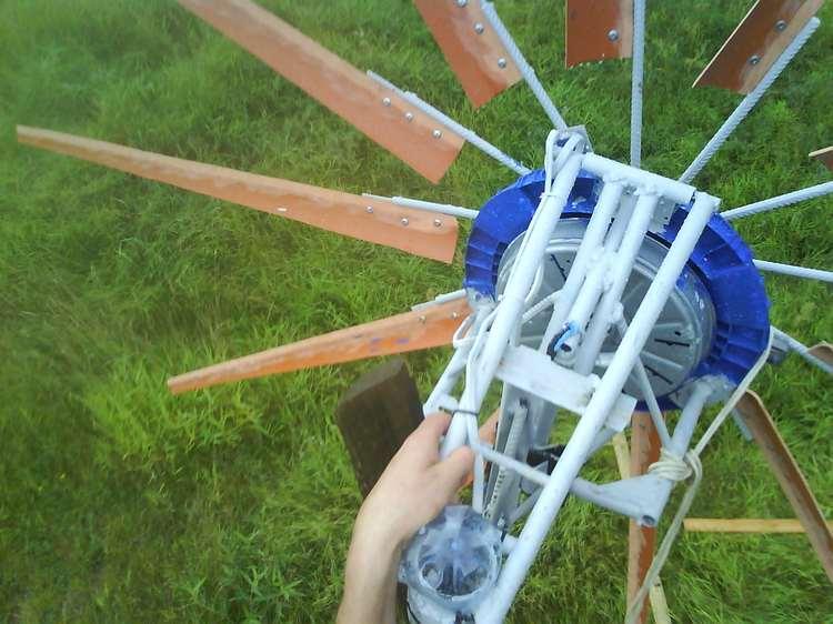 vēja ģenerators no augšas