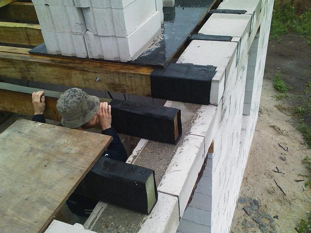 mazas mājas projekts, būvniecības gaita