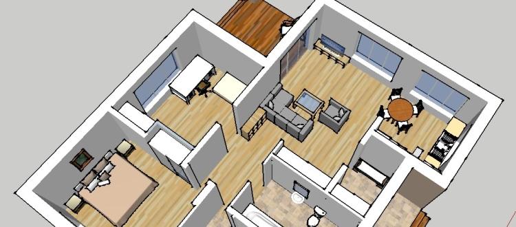 """Mājas projekts """"Normunds"""" - interjera trīsdimensiju vizualizācijas"""