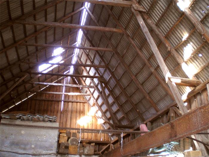Saimniecības ēkas projekts - esošās ēkas attēli, jumts