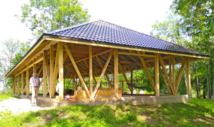 Viesību šķūņa projekts - būvniecības procesa bildes