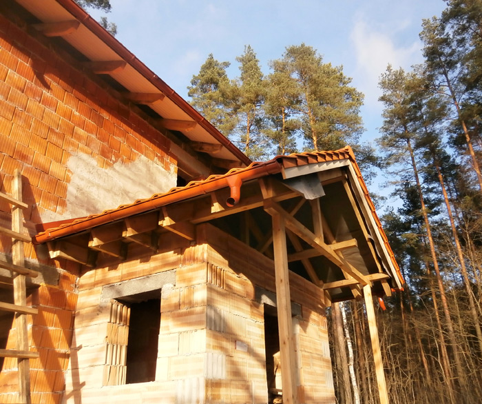 Ekonomiskas, ērtas divstāvu mājas projekts 110kvm, būvniecības bildes