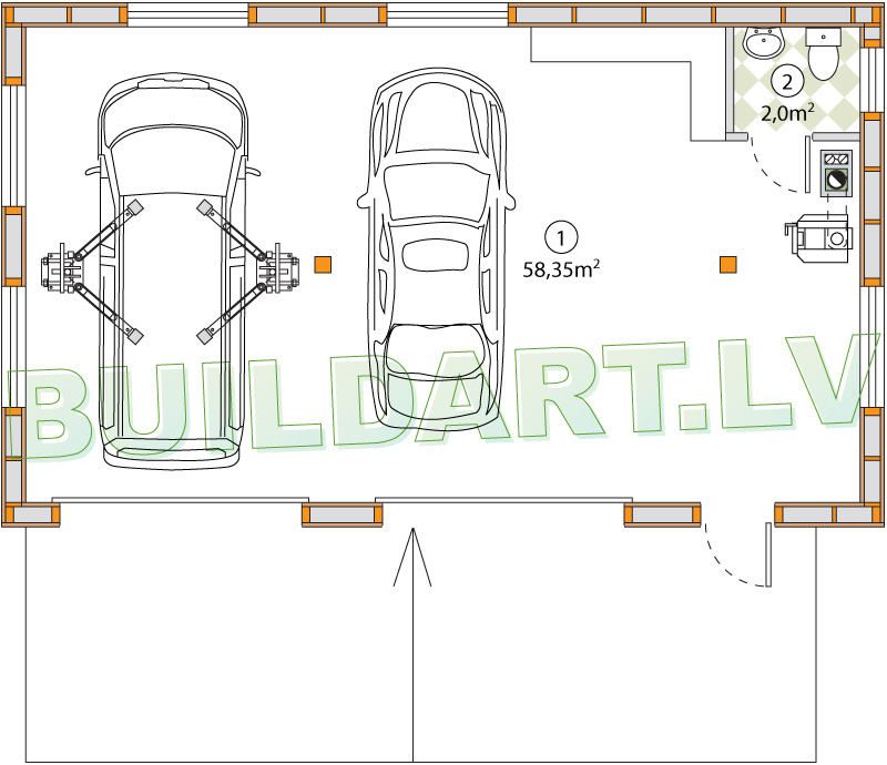 Auto darbnīcas projekts - plāns