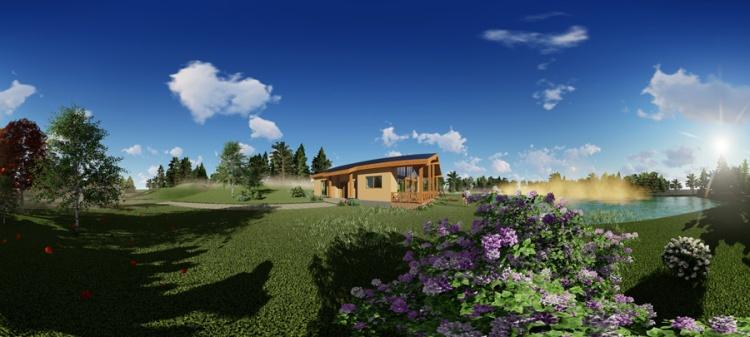 māju projektu trīsdimensiju vizualizācijas