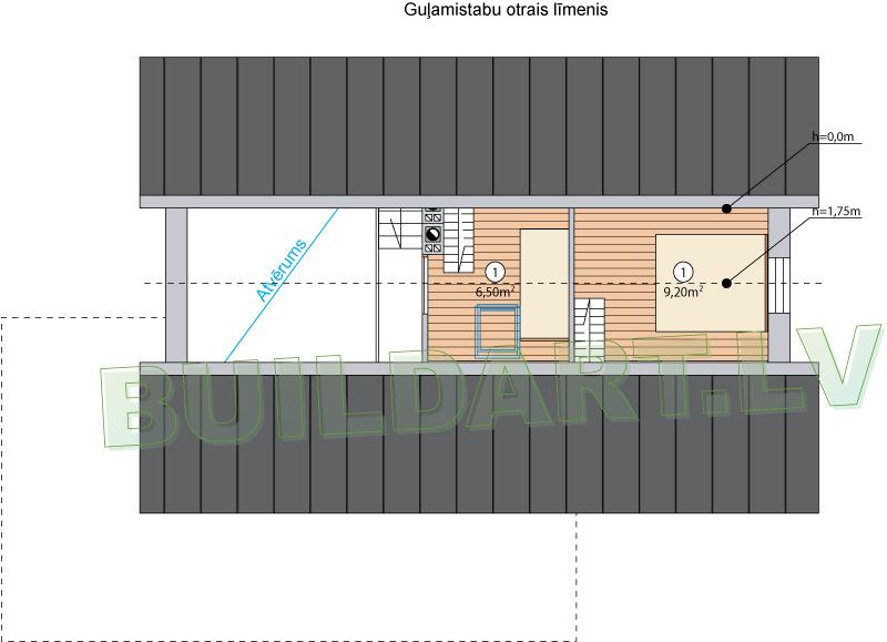"""Mājas projekts """"Smuidrā Elīna"""" - trešais līmenis"""