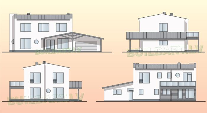 """Mājas projekts """"Saules nams"""""""